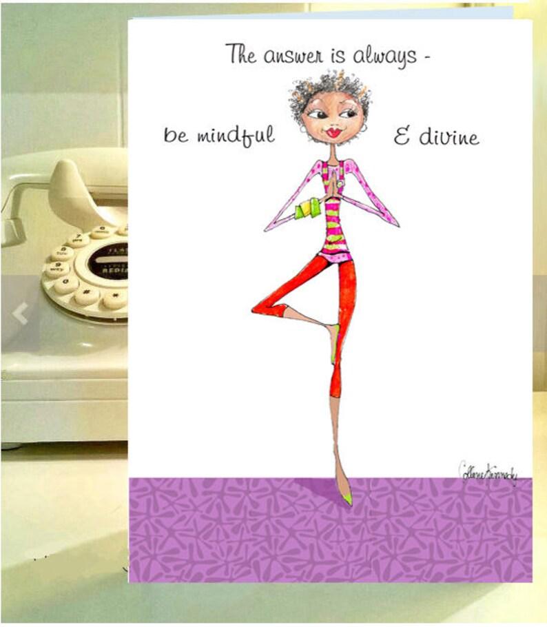 Funny Women Birthday Card Yoga