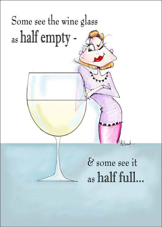 Funny Woman Birthday Card Wine Humor For Friend