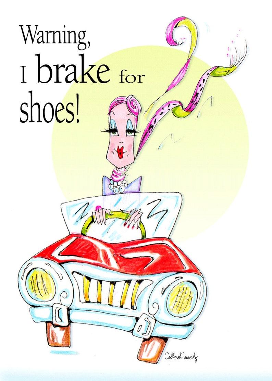 Funny Birthday Card Women Shoe Humor For