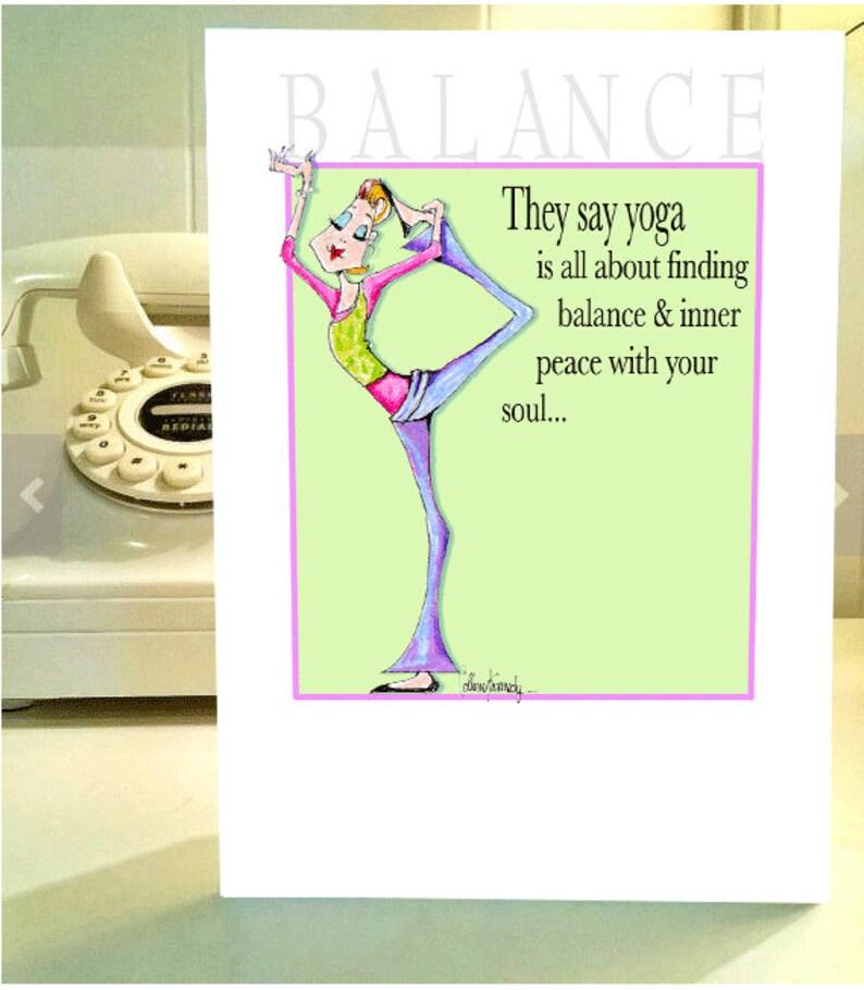 Tarjeta De Cumpleanos De Equilibrio De Yoga Novia Divertido Etsy