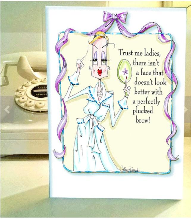 Funny Birthday Card Friend Funny Birthday Card For Woman Etsy