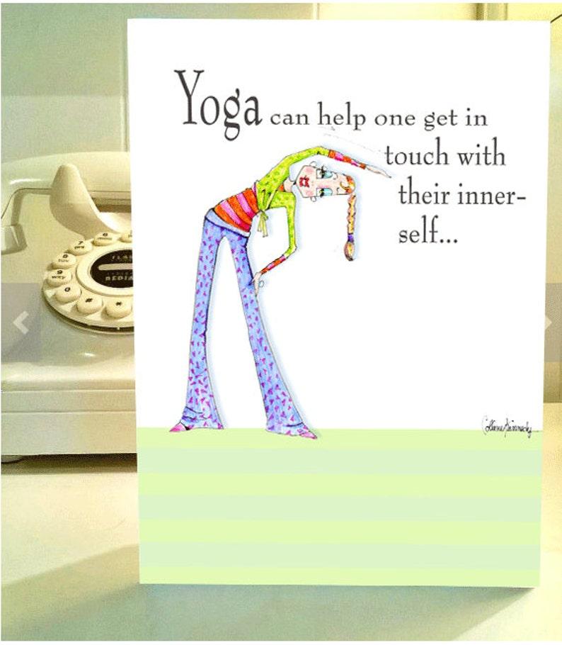 Tarjeta De Mujer Gracioso Humor Funny Yoga Pose Mujer Etsy