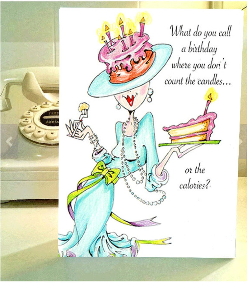 Funny Birthday Card Women Humor Greeting Cards For Her