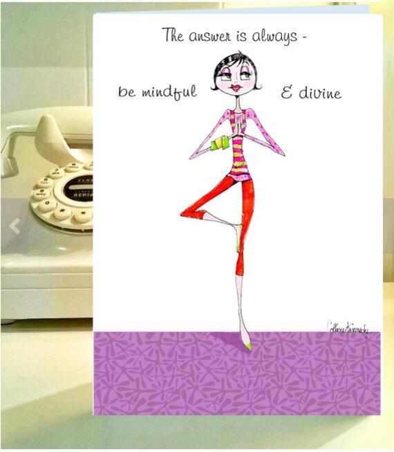 Divertido Mujeres Cumpleanos Tarjeta Funny Yoga Funny Etsy