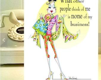 Funny women birthday card  for women, birthday humor for women, birthday greetings, funny greeting cards, women humor cards