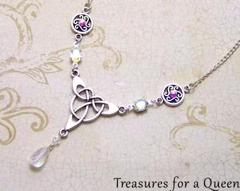 Celtic Necklace - Outlander - Scottish Jewelry, Celtic Jewelry, Outlander Necklace, Scottish Necklace, Celtic Knot, Irish Jewelry, Victorian