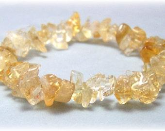 Stretch Bracelet - Gemstone Bracelet - Citrine Bracelet, Bead Bracelet, Gemstone Jewelry