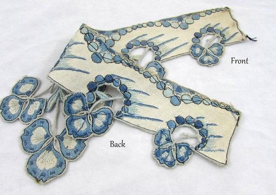 Antique collar - dress or blouse trim - Linen wit… - image 4