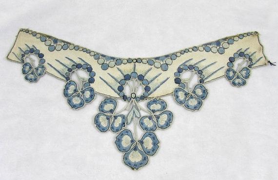 Antique collar - dress or blouse trim - Linen wit… - image 2