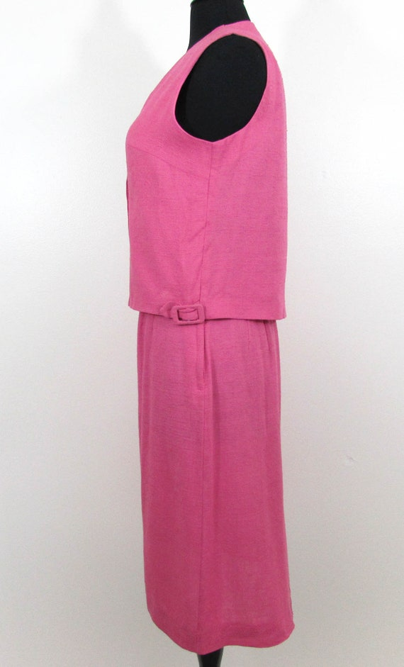 bbfbb0c7542 Puritan 3 pc suit raspberry linen blend Gloria Swanson   Etsy