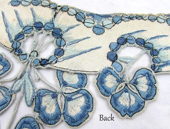 Antique collar - dress or blouse trim - Linen wit… - image 5