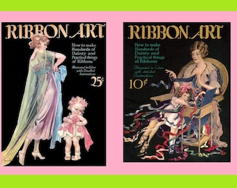 Vintage sewing book 1920s ribbon art ebook how to for rosettes the ribbon art books volumes i iii reproduction of vintage 1920s magazines flower craft design costuming 1923 pdf fandeluxe Gallery