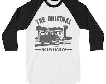 VW Bus 3/4 sleeve raglan shirt