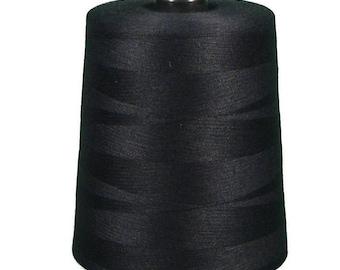 10 Spools of Black Sewing Thread T-27 40/2 10000y