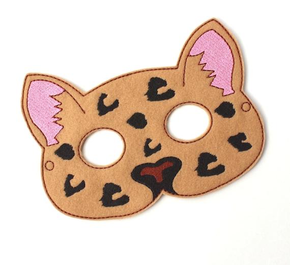 Kinder Leopard Maske Pony Gepard Kostüm Filz Maske Kinder | Etsy