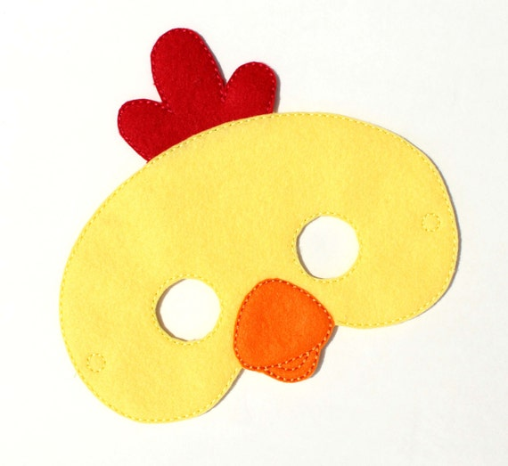 Kids Chicken Mask Costume Felt Face