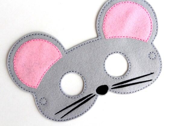 Kinder Maus Maske Maus Kostüm Filz Maske Gesichtsmaske Kids | Etsy
