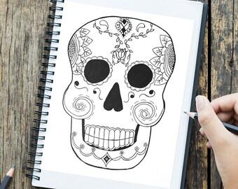 Artículos Similares A Santa Muerte Para Imprimir Para Colorear