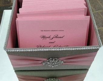 Wedding Box, Program Box, Bubble Box, Centerpiece, Favor  - Custom Made