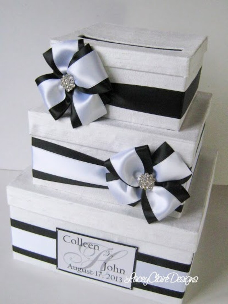 Wedding Gift Card Money Box Black And White Wedding Box Envelope Box Card Holder Box For Cards Gift Table Card Box Wedding Box Custom