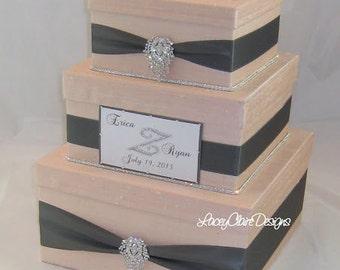Boîte en carton pour mariage, fard à joues et étain, boîtes à cartes de mariage, boîte à enveloppe mariage, tirelire, boîte pour cartes, boîte de mariage, fait sur mesure