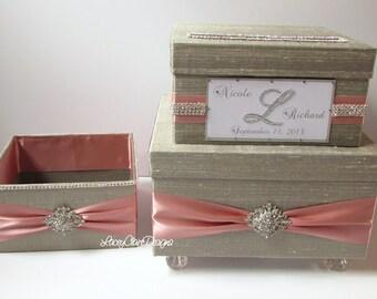 Mariage porte de boîte à carte avec programme support/salle de bain accessoires boîte, boîte de cadeau de mariage, boîte pour cartes, boîte à enveloppe, fait sur mesure