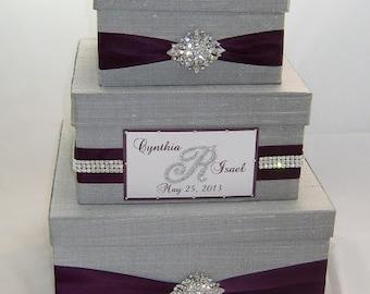 Wedding Gift Box, Card Box for Wedding, Bling Card Box, Wedding Card Holder, Box for Cards, Rhinestone Money Holder  - Custom Made