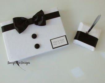 Bow Tie Event Guest Book, Little Man Theme Baby Shower, Same Sex Wedding Guest Book - Custom  Made
