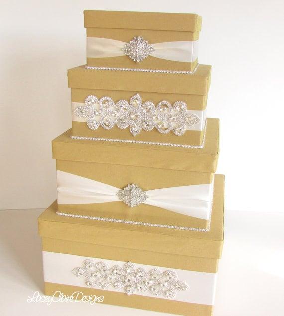 Wedding Card Box Bling Card Box Rhinestone Money Holder | Etsy