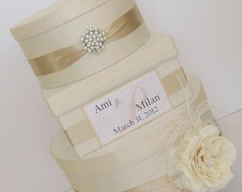 Boîte à couture mariage carte, porte carte en soie, boite pour cartes, porte cartes, boîte de mariage, décoration de Table cadeau, fait sur mesure