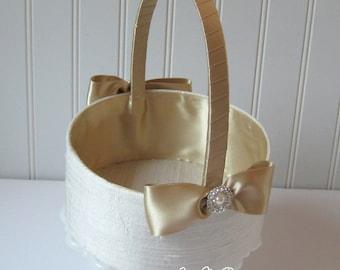 Flower Girl Basket  - Custom Made - Basket for Flower Girl