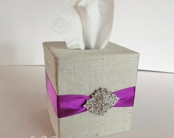 Tissue Box, Wedding Box, Amenties Box, Tissues Cover  - Custom Made