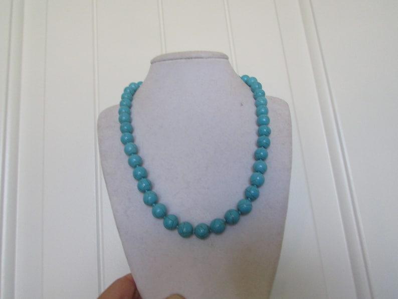 Turquoise Necklace,Round Necklace,Blue Necklace,Fashion Necklace