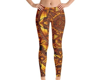Bohemian cropped cheap leggings Steampunk dance cosplay psytrance braided yoga pants Swirl Tribal style leggings Festival wear