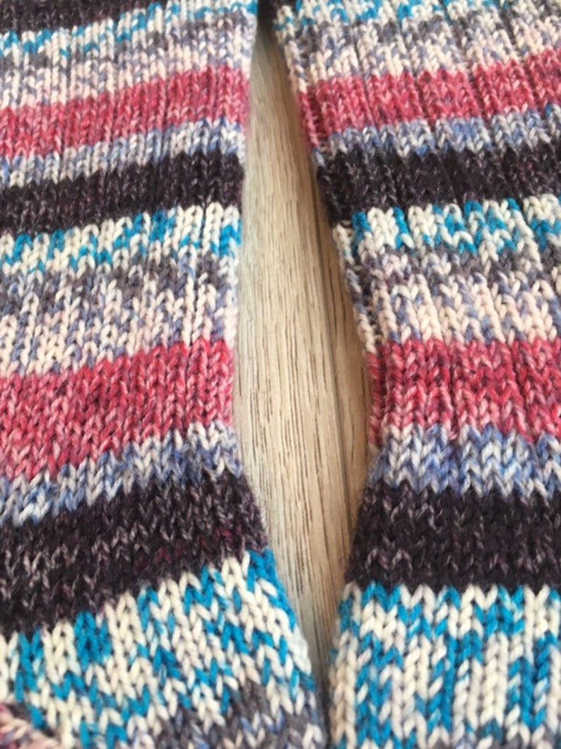 Mid Calf Socks Knit Socks Winter socks Cozy Socks Foot Warmers Wool Socks Wool blend Long Socks Gift Idea Striped