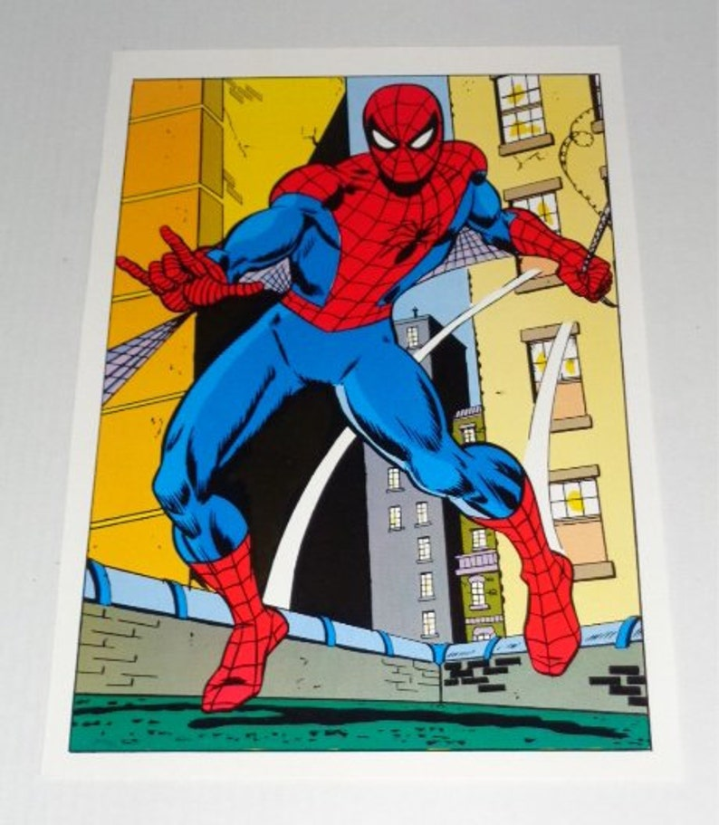 1978 Spider-man poster pin-up with art by John Romita Sr! Vintage original  1970's Marvel Comics Amazing Spiderman pin-up comic poster 1:70's