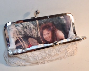 Personalize Your Bridal Clutch with a SILK Photo Lining Bridal Clutch CUSTOMIZE