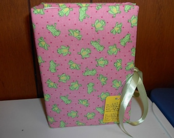 Frogs Allover on Pink Fabric Photo Album