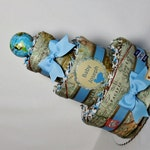 Travel Baby Diaper Cake Globe Final Destination World Map Shower Centerpiece Gift
