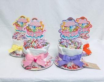 Baby Diaper Cakes 4 Options Noahs Ark set of 4 Shower Centerpieces