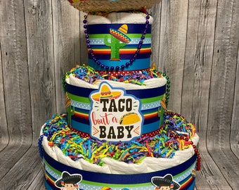 Taco bout a Baby Diaper Cake Hispanic Mexican BOY GIRL NEUTRAL Shower