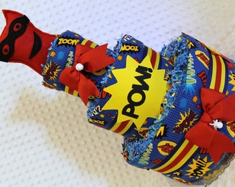 Superheroes Baby Diaper Cake Shower Gift or Centerpiece