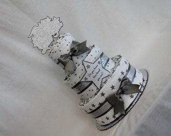 Baby Diaper Cake Twinkle Twinkle Little Shower Gift Centerpiece