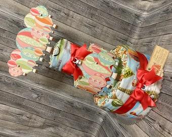 Hot Air Balloons Baby Diaper Cake Girls Gift or Shower Centerpiece