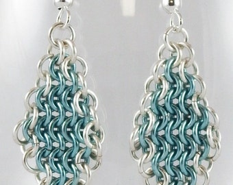 Chainmaille Earrings (Baby Blues)