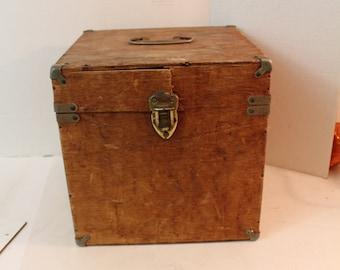"Handmade Vintage Wooden Box 10"" x 10"" x 10"""