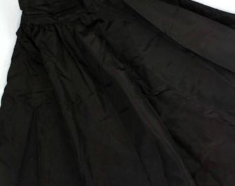 Vintage Gunne Sax Gunnies Pleated Full Circle skirt sz 3 black