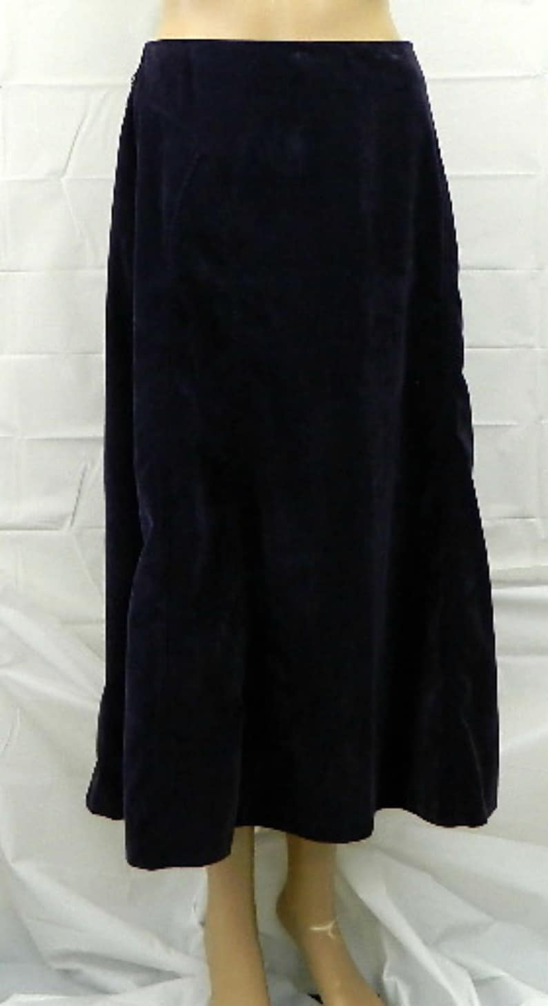 f23abd99fd Dress Barn sz 10 modest long corduroy skirt purple