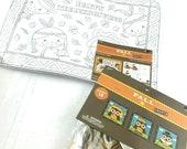Set of 2 Thanksgiving Coloring placemats and craft Kit NIP