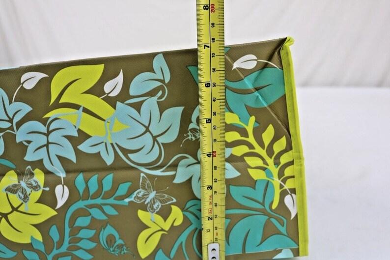 Reuseable Grocery Tote Bag Green Print
